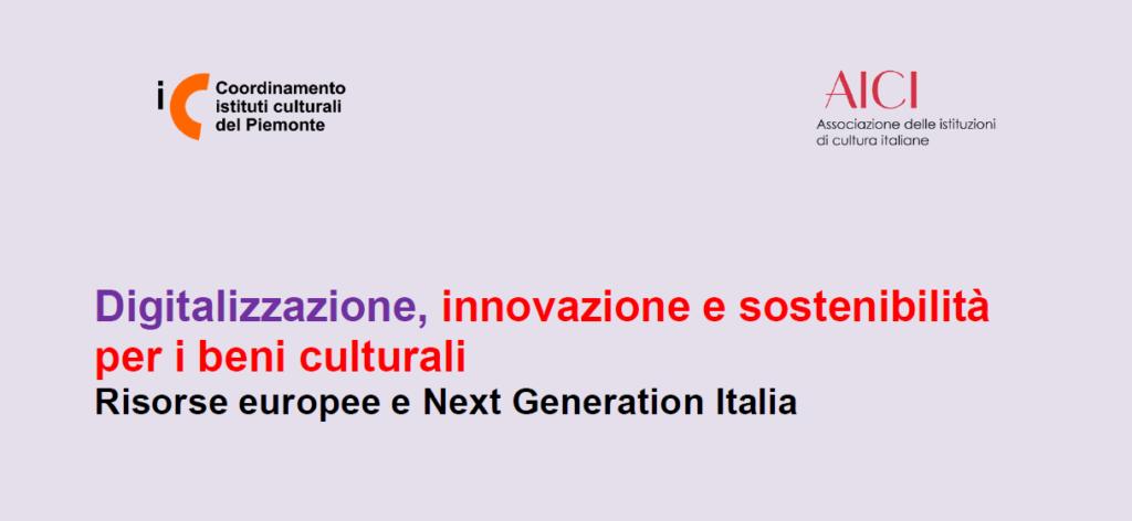 Un webinar per la digitalizzazione e la sostenibilità per i beni culturali