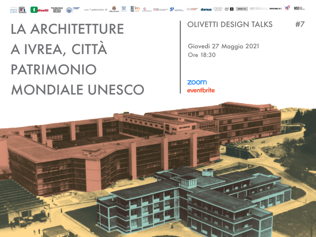 Un nuovo incontro nell'ambito degli Olivetti Design Talks dedicato alle architetture Olivetti e ad Ivrea