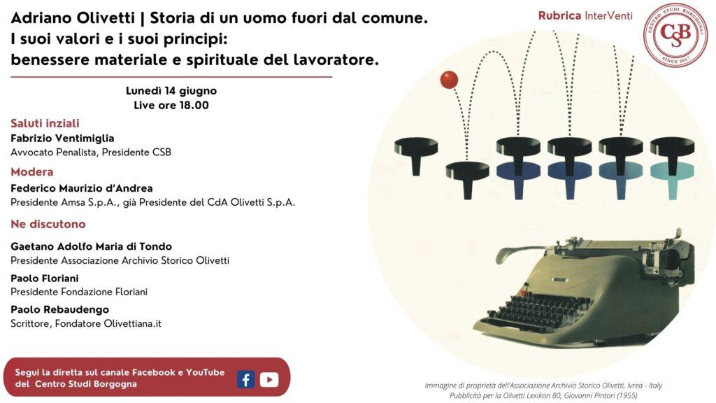 Dialogo su Adriano Olivetti, un uomo fuori dal comune