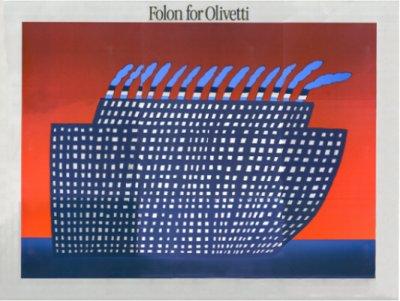Folon for Olivetti (le bateau)