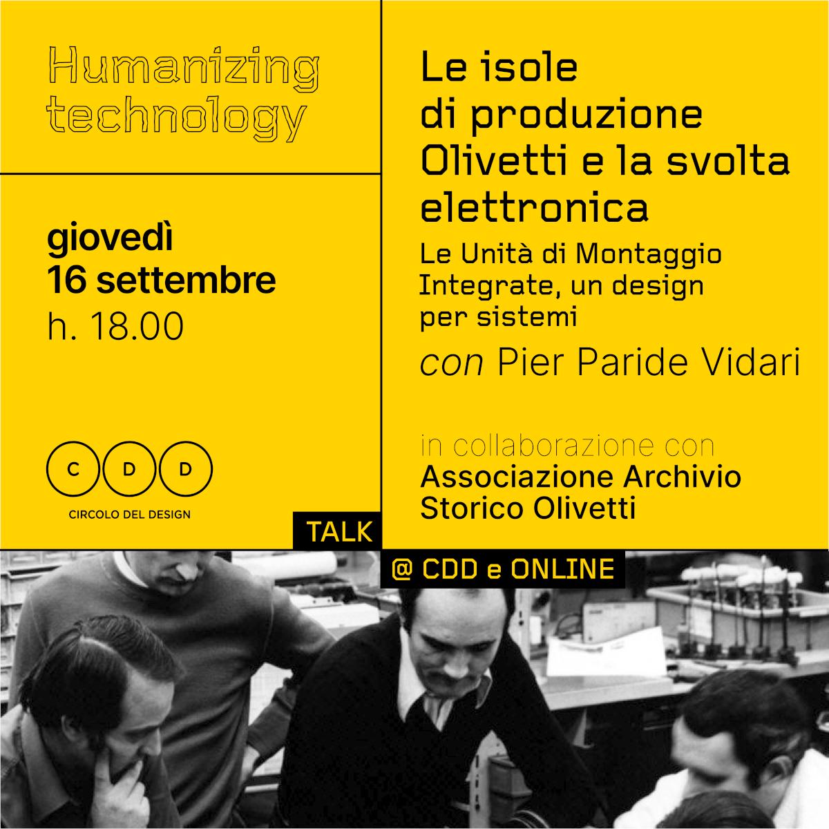 Le isole di produzione Olivetti e la svolta elettronica